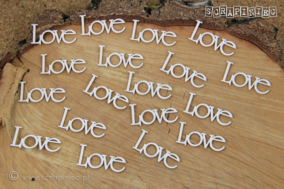 Chipboard Lettering - Love