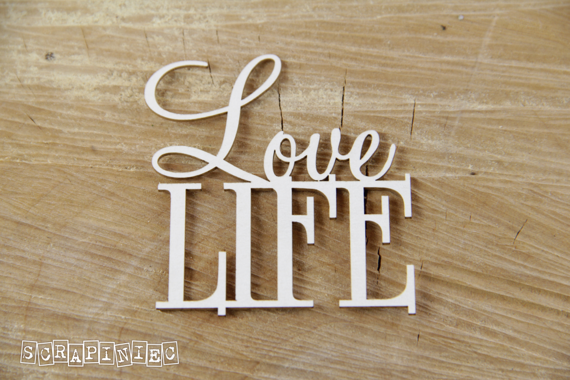 Chipboard Lettering Love LIFE