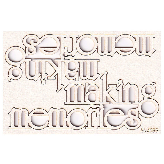 Chipboard Lettering Making Memories 2 pcs