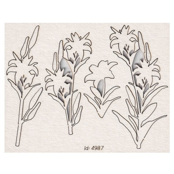 Chipboard - Lilies - Tatting Communion - Lilies