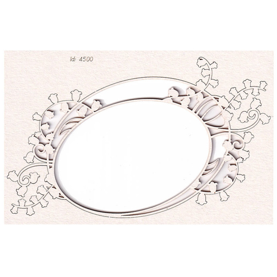 Chipboard - Lilly of the valley - Oval Frame 02