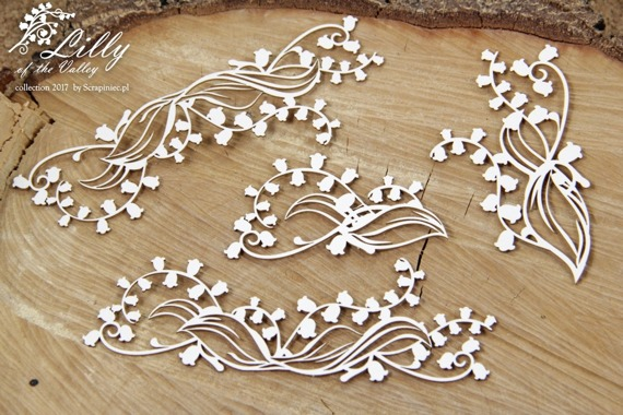 Chipboard - Lilly of the valley - floral decors