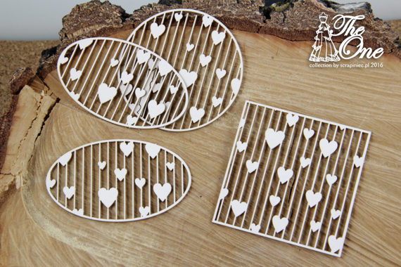 Chipboard Little Backgrounds with hearts
