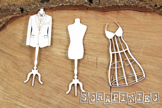 Chipboard - Love in 3D - Models -  Mannequin (with frame)