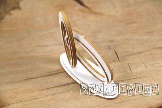 Chipboard - Love in 3D - wedding rings 3D