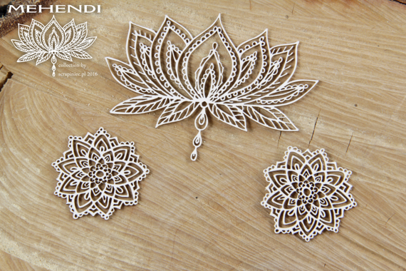 Chipboard Mehendi Lotus