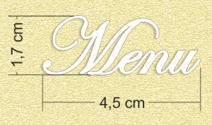 Chipboard Menu Lettering