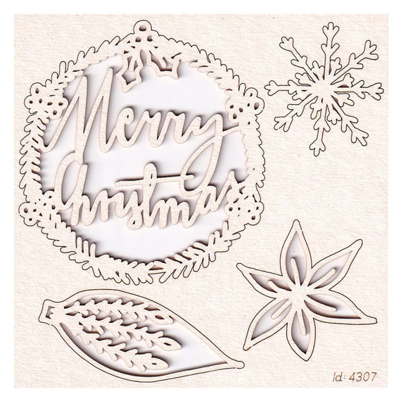 Chipboard - Mon Merry cheri - Merry Christmas 02