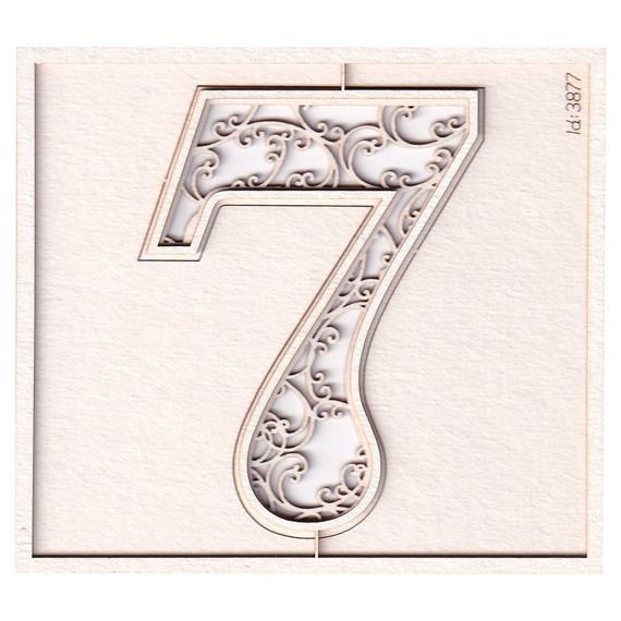 Chipboard - Monograce - monogram - 7 - 2 layers