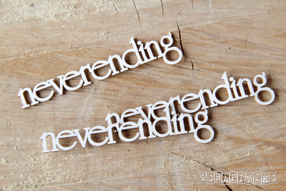 Chipboard Neverending lettering