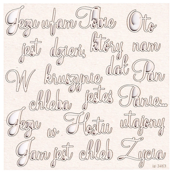 Chipboard Polish quotes for First Communion