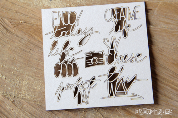 Chipboard Preserve memories - inscriptions - letterings