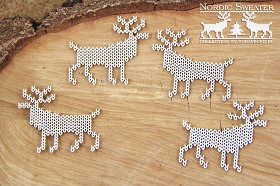 Chipboard Reindeer - Nordic sweater
