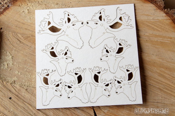 Chipboard Reindeers Christmas 8 pcs