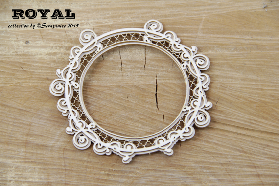 Chipboard - Royal - Big round frame 2-layers
