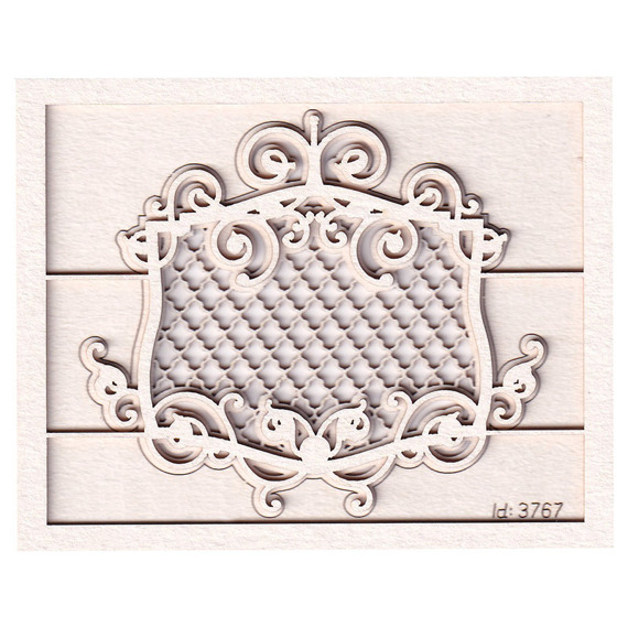 Chipboard Royal decor - small with a frame