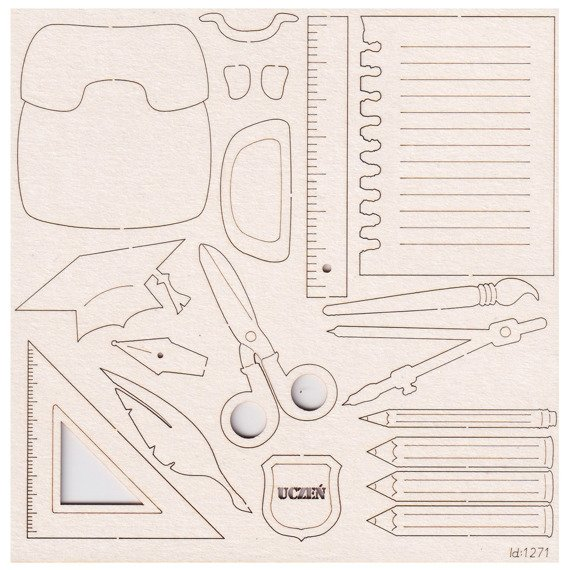 Chipboard - School supplies - Scrapiniec