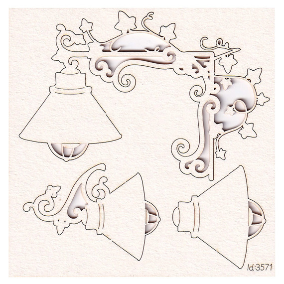 Chipboard Secret Garden - Lamps