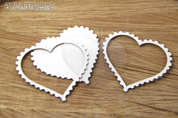 Chipboard Shaker box heart - 3 D