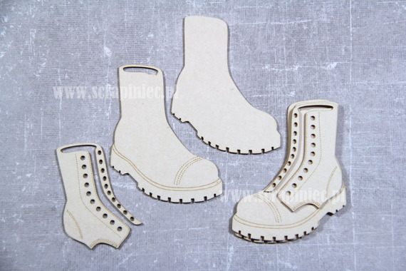 Chipboard Shoes -bovver boots 3D - 6cm