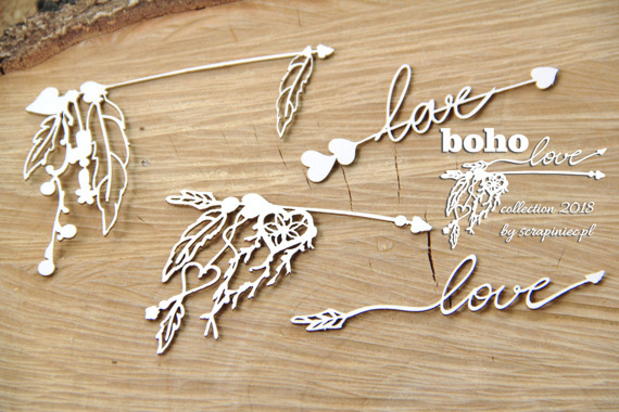 Chipboard - Small Arrows 02 - Boho Love
