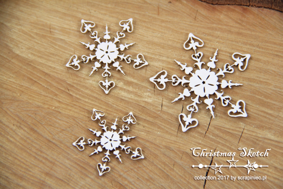 Chipboard - Snowflakes - Christmas Sketch