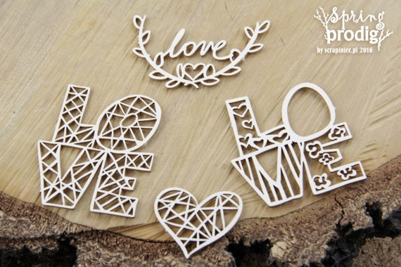 Chipboard - Spring Prodigy - Love lettering