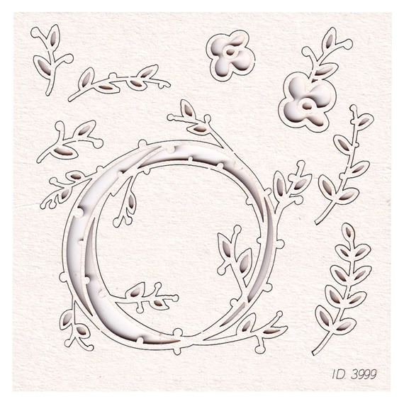 Chipboard Spring Prodigy - Wreath 1