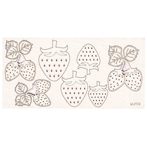 Chipboard Strawberries set