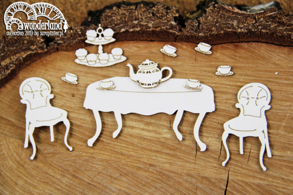 Chipboard - Tea Party - Alice in Wonderland