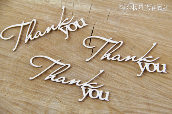 Chipboard Thank You Lettering
