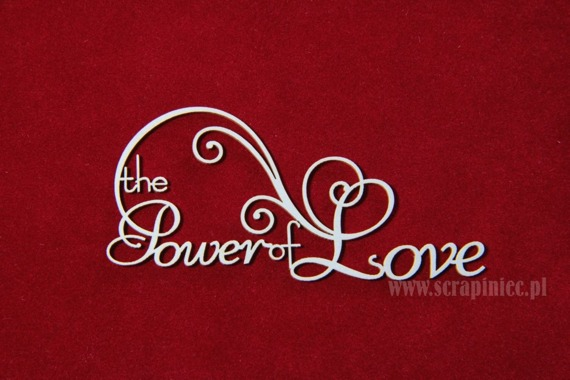 Chipboard The Power of Love - swirly version