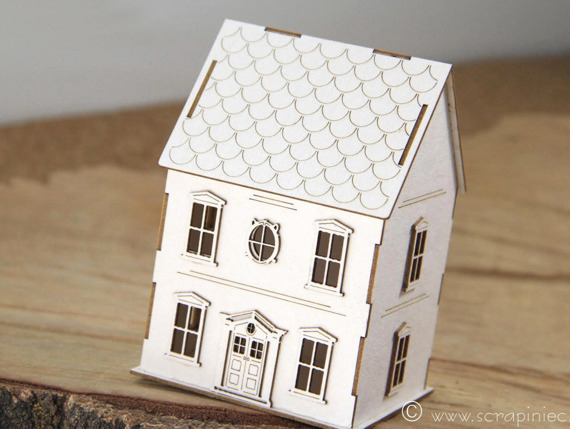 Chipboard Tiny Family House 3D