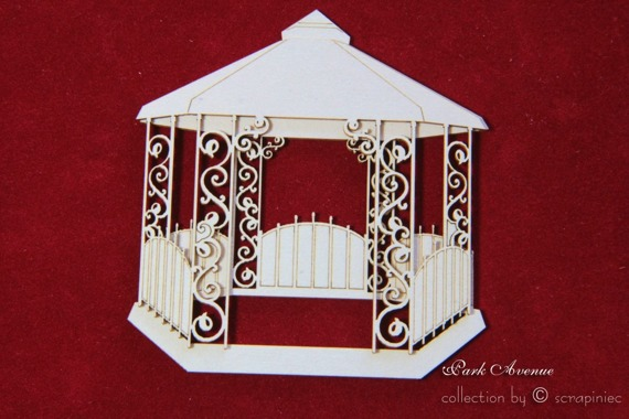 Chipboard arbor - Park Avenue 3D