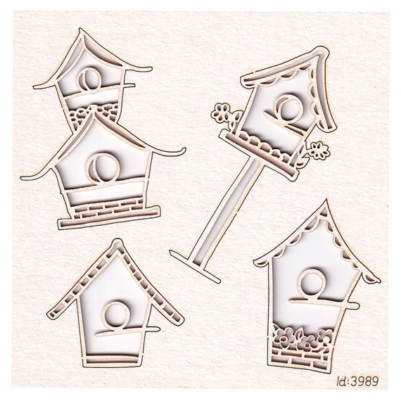Chipboard birdhouses - Spring Prodigy