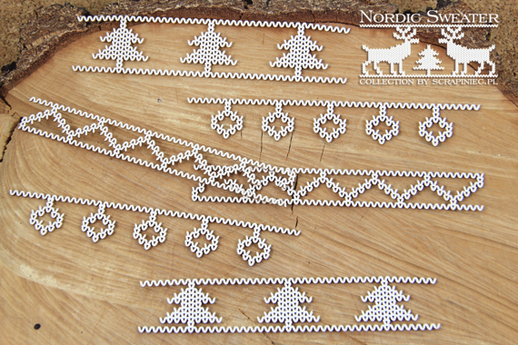 Chipboard borders 01 - Nordic sweater