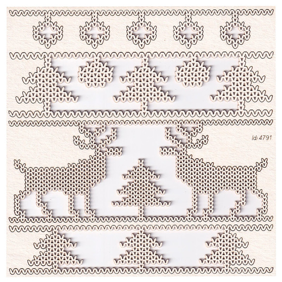 Chipboard borders 03 - Nordic sweater