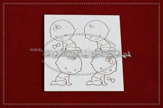Chipboard crawling babies - mini set