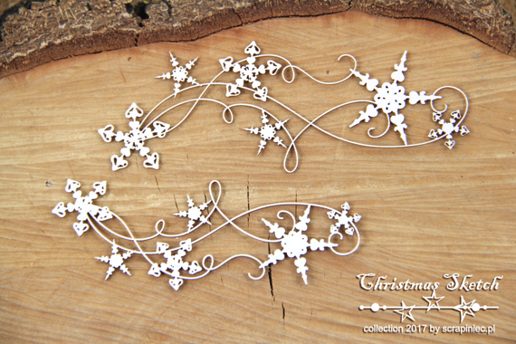 Chipboard - decors 01- Christmas Sketch