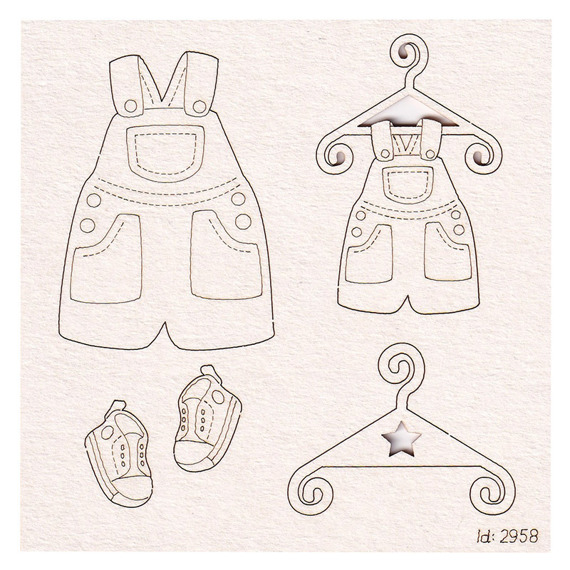Chipboard dungarees baby boy set - Babyland