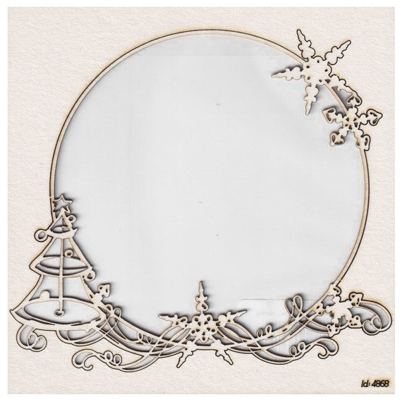 Chipboard - frame - Christmas Sketch