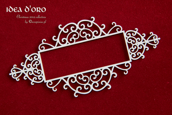 Chipboard frame signboard 02 - Idea d'oro