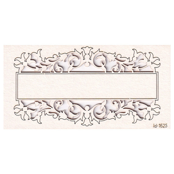 Chipboard frame signboard with floral embellishment