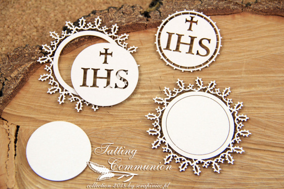 Chipboard - host big - 2 layers - Tatting Communion