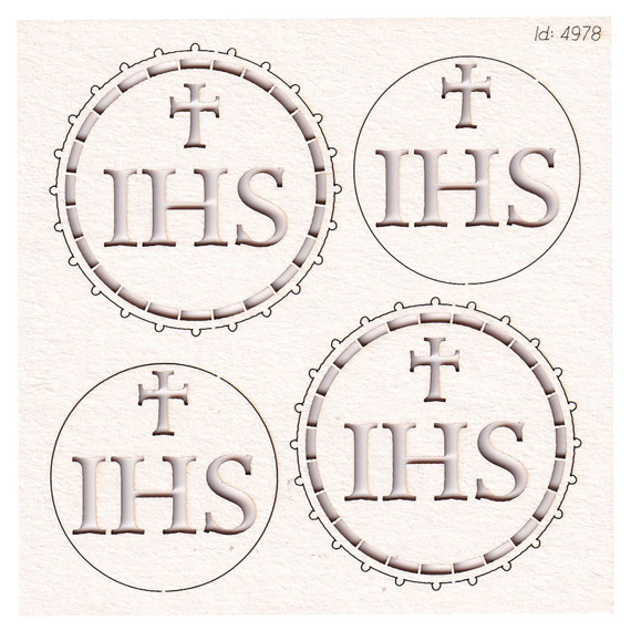Chipboard - host small - 2 layers - Tatting Communion