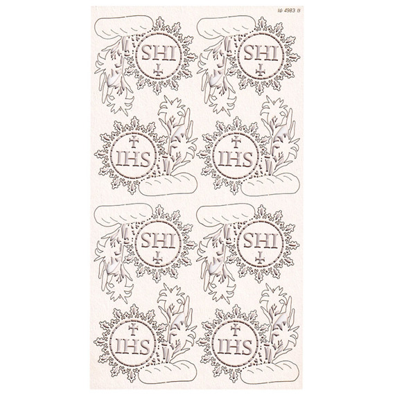 Chipboard - host with lilies - Tatting Communion