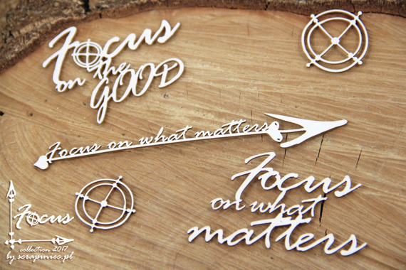 Chipboard lettering Focus on the GOOD; Focus on What Matters
