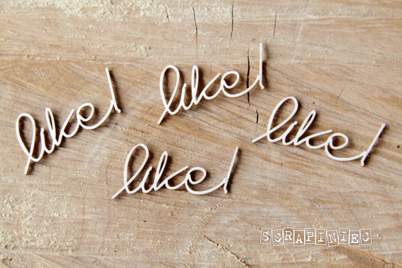 Chipboard lettering - Like