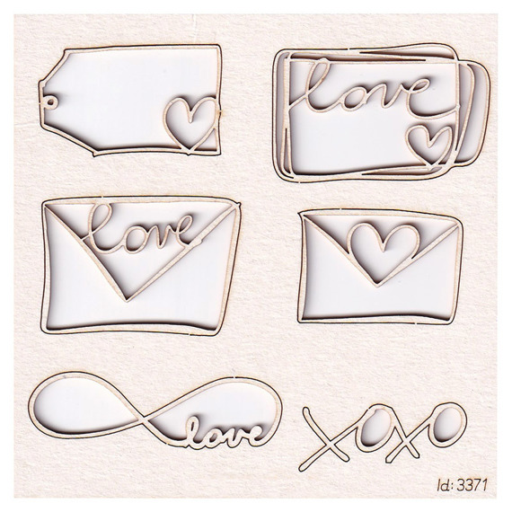 Chipboard love letterings and love letters Brush art elements