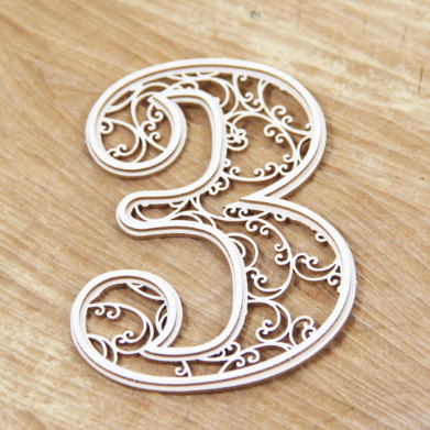 Chipboard monogram 3 - Monograce